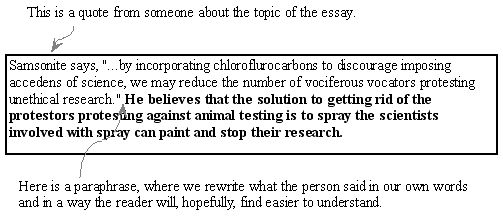paraphrasing in essay writing